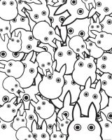 Totoro Pattern Wallpaper by NewbieMe