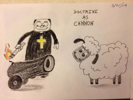 Cannon and Sheep with Priest by RadonTheWolf