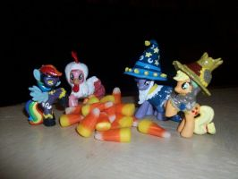 Halloween Costume Ponies by Gryphyn-Bloodheart