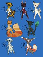 Furry adopts Name your prize batch 2 by Pinkey-poptard