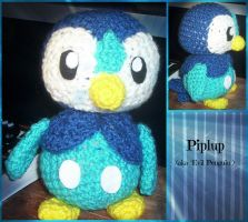 Crochet Piplup by ArtisansShadow