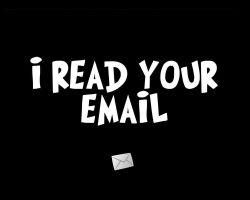 I READ YOUR EMAIL 2 by GeekGod4