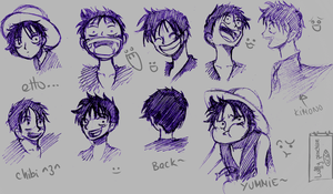 OP: Luffy Practice by Louveone