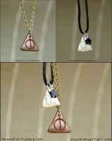 Copper and Silver Deathly Hallows by Gnuchi