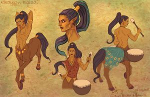 Drummer centaur by MorganeDeMatons