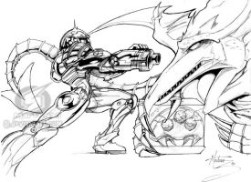 supermetroid lineart by martenas