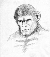 Caesar of the apes by pixelpusher24