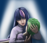 The Greatest Pain - Twilight and Spike by viuolino