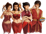 Ladies in Red by NotMyMain