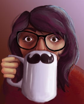 Moustache Mug by XIU-XING