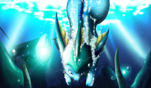 Diving Vaporeon by chazolave