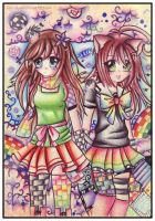 Collab: Rainbow Friendship by Tajii-chan