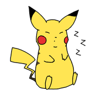 Tired Little Pikachu by Bleedinginside47