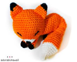 orange fox amigurumi by adorablykawaii