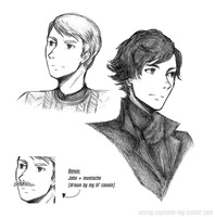 BBC Sherlock: Portraits by xCheckmate