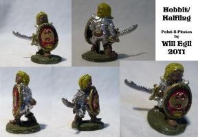 Halfling warrior - minature collage by SurfTiki