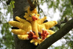 #145 Zapdos by pokecrochetchallenge