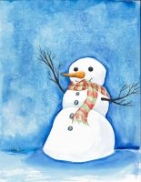 Christmas Card - Snowman by TalynDraconmore