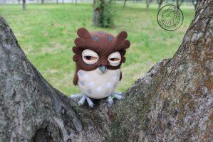 Coffee owl.. by Sillykoshka