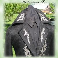 Black Gothic Trench Coat by TheSandstoneMan