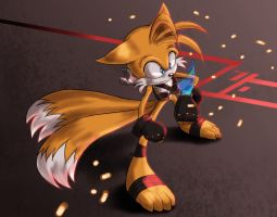 Tails Redesign by BubblesRRJ
