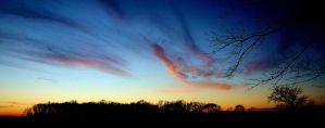 SUNSET ON A HOOSIER FARM by rongiveans