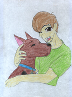 Scooby and Shaggy-anime style by werewolf-hime1313