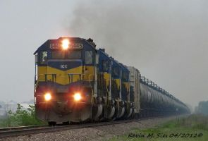 4 ICE Locomotives lead UP Oil Train OCHSJ 28 by EternalFlame1891