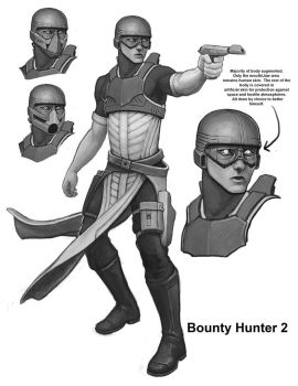 Bounty Hunter Concept - 2 by philldwill