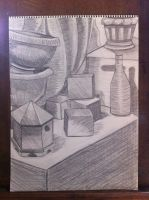Still Life in Graphite by KatarinaDelgado