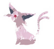 Espeon Paint Splatter Graphics by HollysHobbies