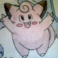 Clefairy Coloured by KayceeMuffins