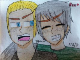 The German Bro's (Germany and Prussia of Hetalia) by manajiwinp