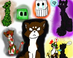Minecraft Cats by UmbreonLOVER162