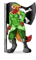 MFF Conbook Entry - Pirate captain Zin by ZinStone