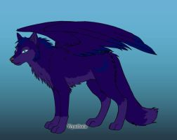 Wolf OC- Moon Shadow by Coraline15
