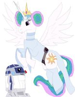 Celestia mlp  dress as Lea from Star wars by daylover1313