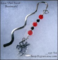 Love Symbol Bookmark by 1337-Art