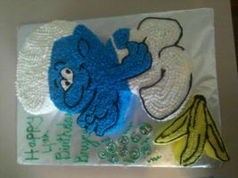 Clumsy Smurf Cake by missblissbakery