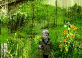 a guy a meadow by Sesca