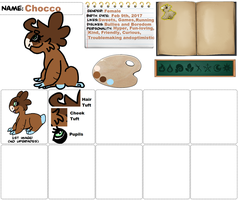 Chocco ~ Wyngro Ref Sheet by Vampwolfie