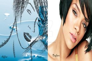Rihanna-Before After by PlatinumxRose