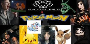 black veil brides and poemon by Moon-Shatte