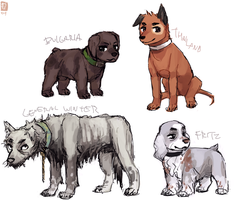 Leftover Hetalia Dogs by emlan