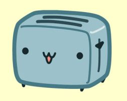 Kawaii Toaster by nickbachman