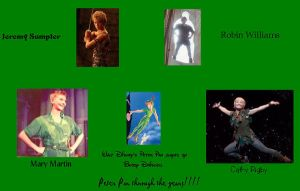 Peter Pan Through the Years by moonybabe