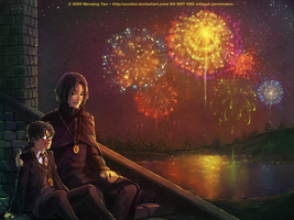 Harry and Snape Commission by yuumei