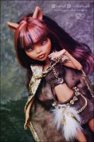 Clawdeen Wolf Forest Princess OOAK repaint redress by MyobiMarishka
