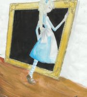 Alice through the picture fram by DarkDevi