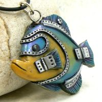 Blue and Yellow Anglefish by DesertRubble